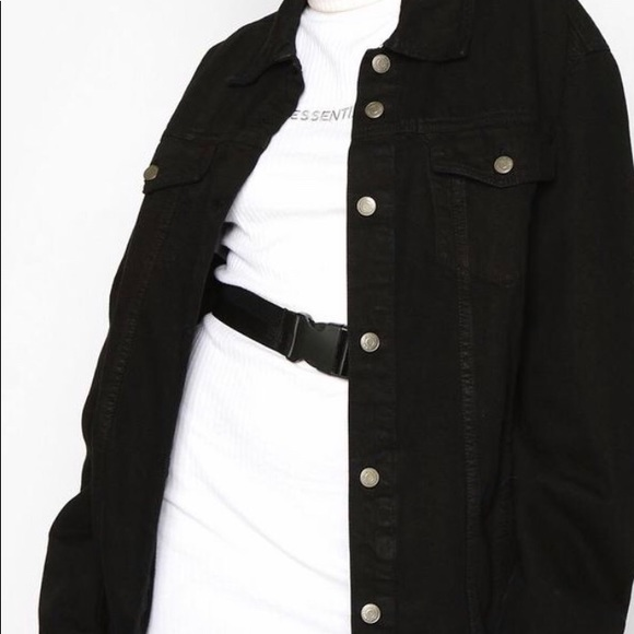 Boohoo Jackets & Blazers - Boohoo black denim jacket